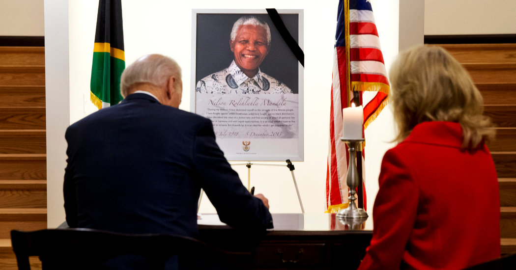 Biden Adds a Claim to His Biography: An Arrest in South Africa