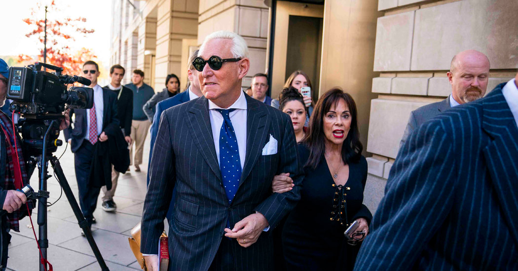 Roger Stone Is Set to Be Sentenced in Case That Has Drawn Scrutiny