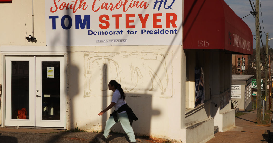 Tom Steyer Stirs More Debate Over Payments in South Carolina