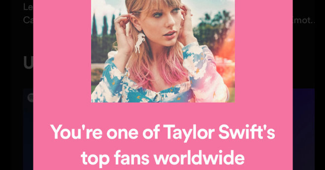 What Do Those Spotify 'Top Fans' Messages Mean?