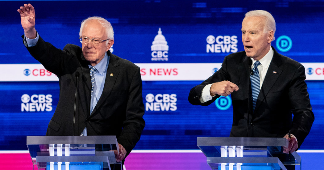 D.N.C. All but Confirms Next Debate Will Include Just Biden and Sanders