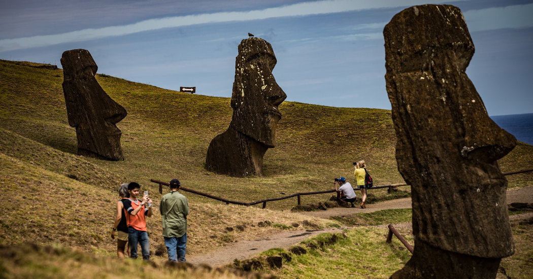 Truck Crashes Into an Easter Island Statue