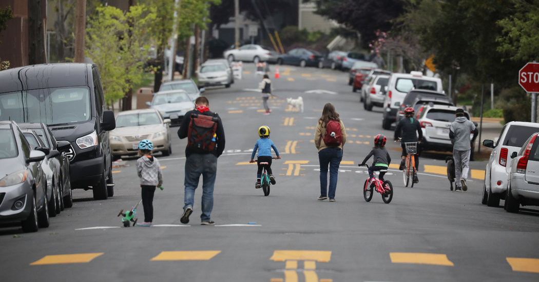 Cities Close Streets to Cars, Opening Space for Social Distancing